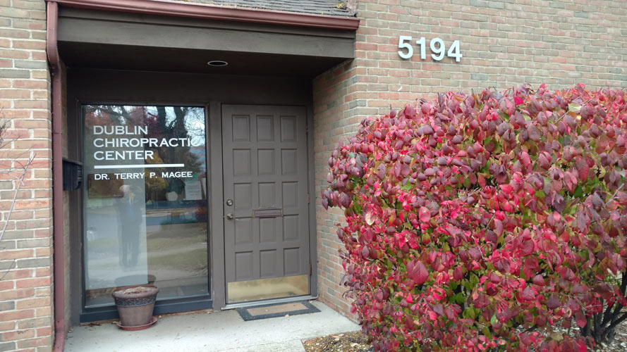 Dublin Chiropractic Center Front Door